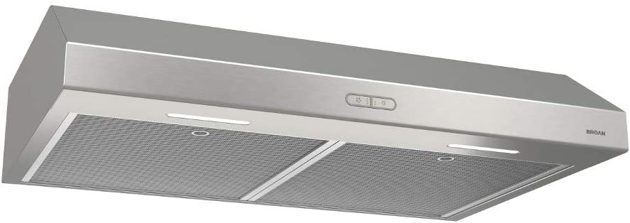 Broan Under Cabinet Range Hood 30 in 300 CFM Convertible Light Stainless Steel