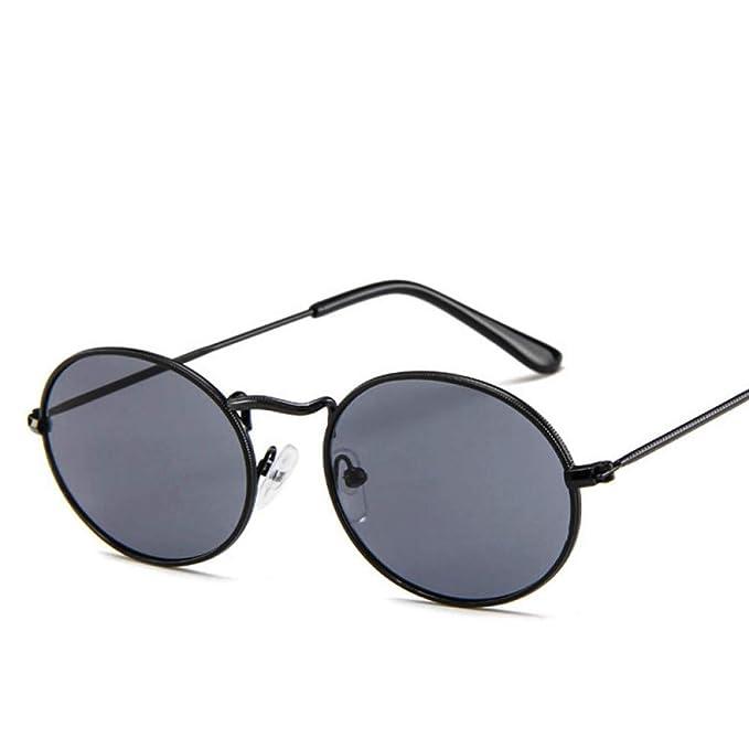 KIYRFAW Gafas de sol ovaladas de mujer Retro Metal Gafas de ...