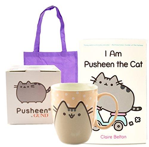 I Am Pusheen the Cat Book and Mug Gift Combo | I Am Pusheen the Cat Paperback and 12 oz Pusheen Mug | With Reusable Non-Woven Tote Bag