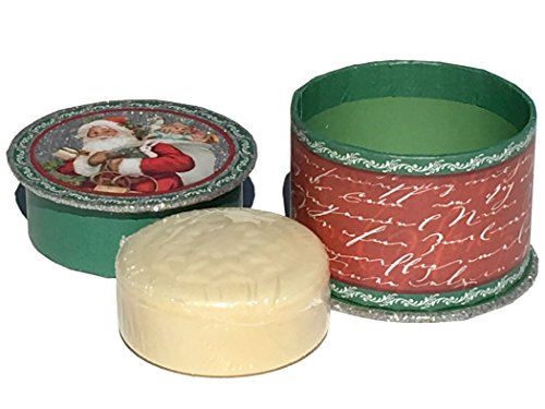 Cranberry Punch (Punch Studio 3.5 oz Cranberry Soap in keepsake Embellished Spool Box, Santa with Toy Bag 67615)