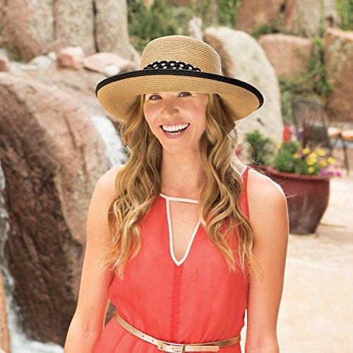 Wallaroo Hat Company Women's Julia Sun Hat - 100% Paper Braid - Adjustable Fit - UPF50+, Natural