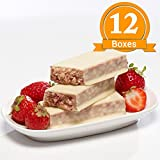 ProtiWise - High Protein Diet Bars | Strawberry Shortcake | Low Calorie, Low Fat, Low Sugar (12 Boxes)