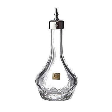 Glass Bitter Bottle Japanese Weave Designer Design (90 ml /3 oz) (Silver)