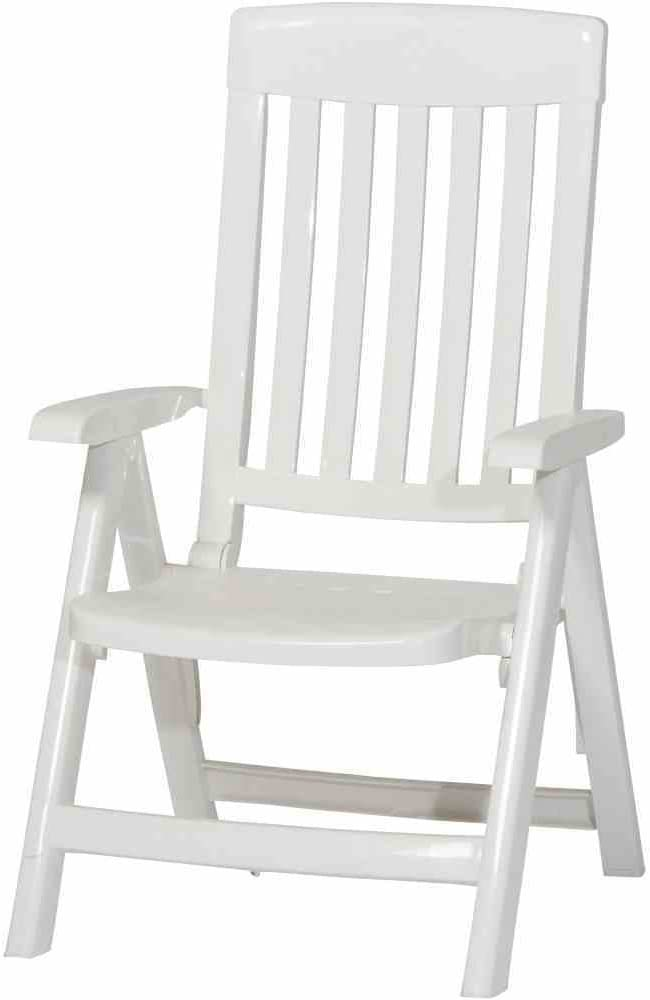 Sieger Palma - Sillón plegable de plástico, color blanco