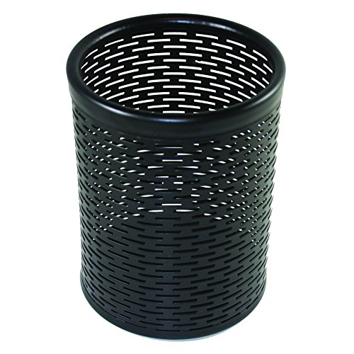 Artistic Urban Collection Punched Metal Pencil Cup, Black (ART20005) (Punched Black Metal)