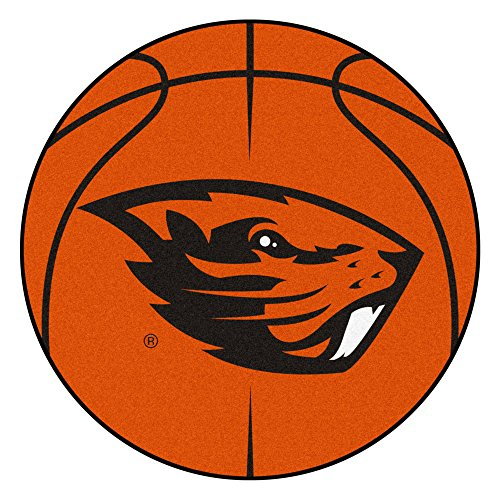 NCAA Oregon State University Beavers Basketball Shaped Mat Area Rug ()