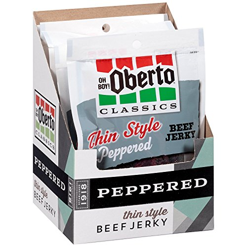 (Oh Boy! Oberto Classics Peppered Thin Style Beef Jerky, 1.2 Ounce (Pack of 8))
