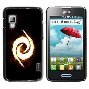 Planetar® ( Fire Swirl ) LG Optimus L5 II Dual E455 / E460 / Optimus Duet Fundas Cover Cubre Hard Case Cover