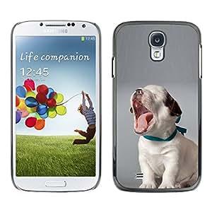 TopCaseStore / la caja del caucho duro de la cubierta de protección de la piel - Puppy Yawning Beagle Baby Canine Dog - Samsung Galaxy S4 I9500