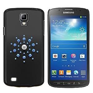 For Samsung Galaxy S4 Active i9295 Case , Resumen Azul- Diseño Patrón Teléfono Caso Cubierta Case Bumper Duro Protección Case Cover Funda