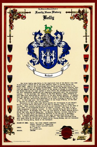 Kelly Coat of Arms/Crest and Family Name History, meaning &