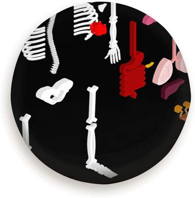 Cubierta de la llanta Cubierta de la Rueda Accesorios de Remolque de Viaje Anatomía Humana Esqueleto isométrico Órganos internos Asistencia Sanitaria Médico 3D Personas 15 Pulgadas