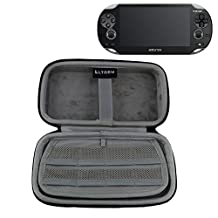 LTGEM All-in-one Compartment Universal Hard Carry Travel Case Bag For Sony Psvita PS Vita 1000 and PSVita Slim (PSV 2000)/PSP PlayStation 3000 Video Console. Mesh Pocket for Charger cable/Game Cards