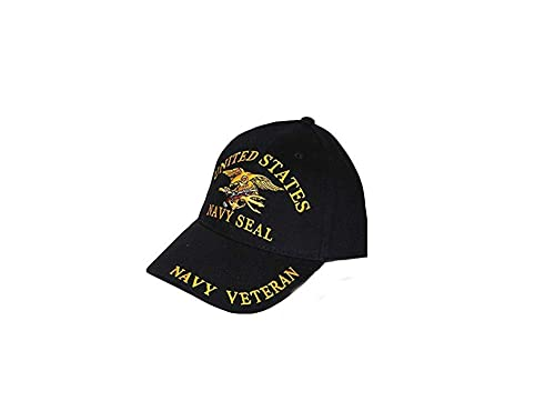 cbd3bda50e5 United States Navy Seal Team Trident Black Hat Cap USN  Amazon.ca  Jewelry