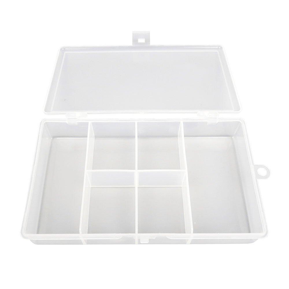 box028クリアビーズタックルボックス釣りルアージュエリーネイルアートパーツSmall表示プラスチック透明ケースストレージオーガナイザーコンテナKisten Boxen Boite 2  B00S5XQR9M