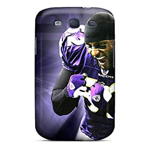 Shockproof Hard Phone Cases For Samsung Galaxy S3 (ZDJ6691ryES) Support Personal Customs Stylish Baltimore Ravens Image