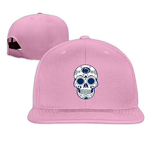 ElishaJ Flat Billed Penn State University Trucker Hats Pink