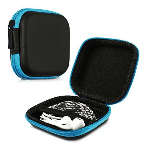 kwmobile Robuste Tasche Case für Kopfhörer in Blau - Hochwertige Schutzhülle für Ihre Kopfhörer