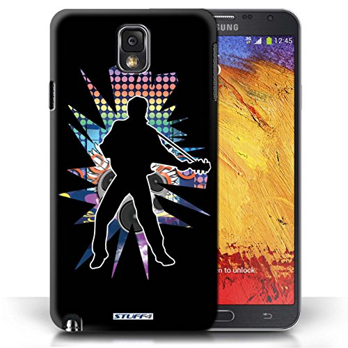 Etui / Coque pour Samsung Galaxy Note 3 / Elvis Noir conception / Collection de Rock Star Pose