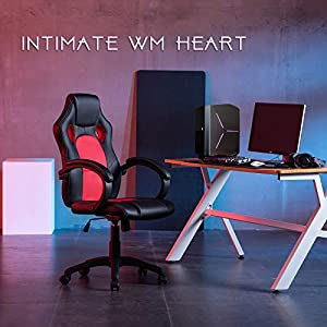 IntimaTe WM Heart Gaming Chair High Back Office Chair Desk Chair Racing Chair Reclining Chair Computer Chair Swivel…