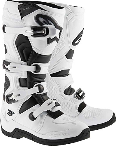 Alpinestars Tech 5 Boots-White/Black-8 by Alpinestars