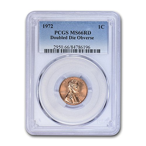- 1972 Lincoln Cent Double Die Obverse MS-66 PCGS (Red) Cent MS-66 PCGS