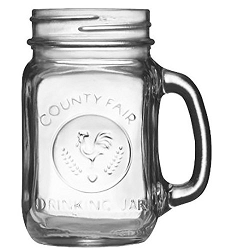 Set of 12 Mason Mugs 16 oz. Mason Jar with Handle Trendy Pint DIY Coffee Tea Lemonade Cocktail Dessert Versatile Decorative Kitchen Container Wedding Glass Jar Strong and Sturdy Build Dishwasher Safe