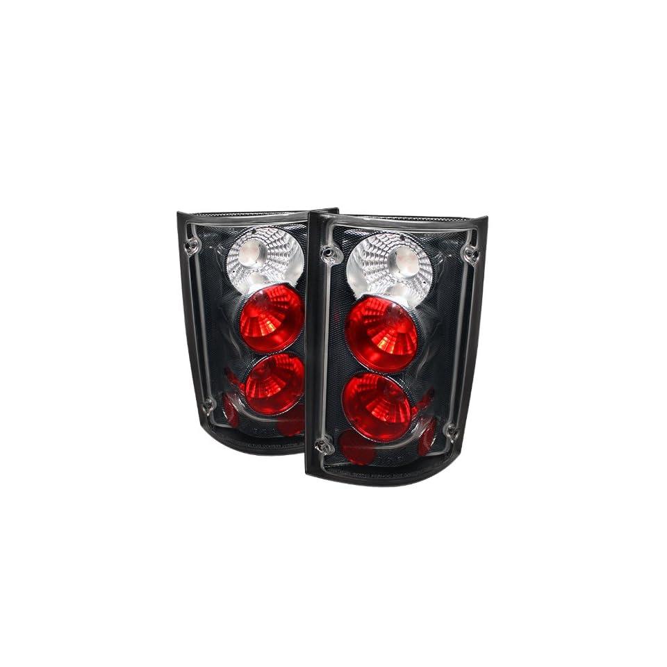 SPYDER Ford Excursion 00 05 / Ford Econoline Van 150/250/350/450/550 95 06 Altezza Tail Lights   Carbon Fiber/1 pair