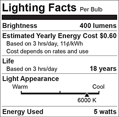 "Miracle LED 604764 5 Watt ""Fat Beam"" Wide Angle Flood Light Security Bulb, Cool White, 4-Pack"