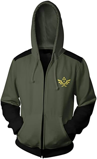 The Legend of Zelda Link Outfit Cosplay Costume Sweater Hoodie Zip Coat Jacket