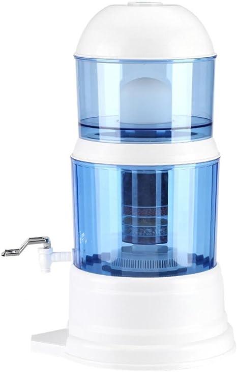 Filtro de agua potable, 16 L, purificador de agua por gravedad ...