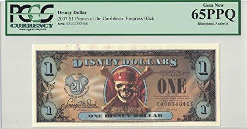 Disney Dollar 2007 $1 Pirates Empress E00034346E PCGS 65 PPQ Gem New