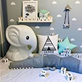 Hinsper Cotton Baby Crib Bumpers Crocodile Doll Long Body Pillow Cushion Nursery Bedding Room Decor Pillow for Kids Children