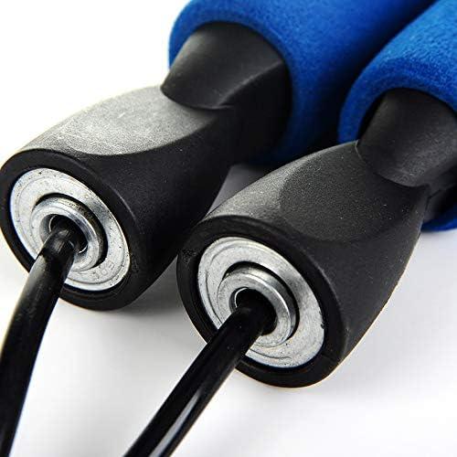 Abnehmen f/ür Kinder und Erwachsene Springseil Jump Rope Sport Seilspringen Verstellbare Stahlseil mit Profi Kugellager /& Hautfreundlichen Griff Fitness Training Boxen