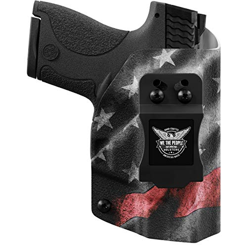 We The People - IWB Holster Compatible with Taser Pulse Gun - Inside Waistband Concealed Carry Kydex Holster (Right Hand, Thin Red Line)