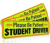Student Driver Magnet Car Signs for The Novice or Beginner. Better Than A Decal or Bumper Sticker (Reusable) Reflective...