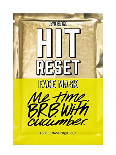 VICTORIA SECRET - HIT RESET FACE MASK WITH CUCUMBER - REFRESHES SOFTENS & SOOTHS SKIN FACIAL MASK