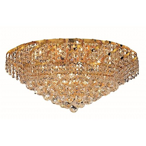 Belenus 18 Light (Belenus Clear Crystal Flush w 18 Lights in Gold (Strass Swarovski))