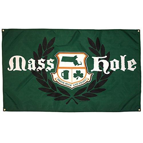 Masshole Crest 3'x5' Flag