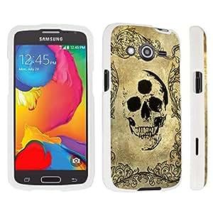 hgfdjhbvb DuroCase ? Samsung Galaxy Avant G386T Hard Case White - (Three Eyes Skull) by hgfdjhbvb