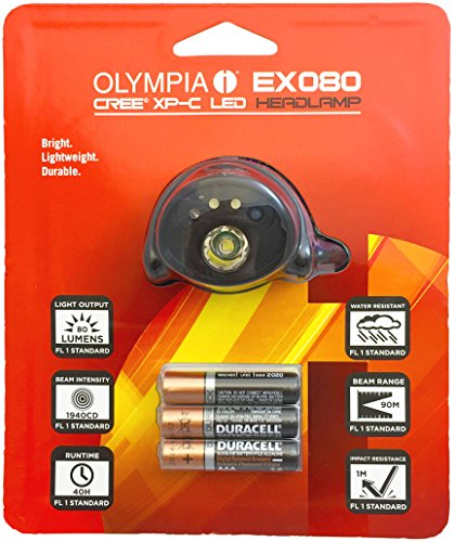 Olympia Lightweight Water Resistant LED Headlamp