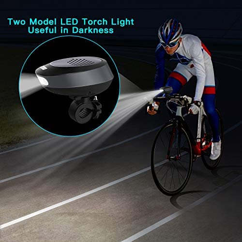 Bike Light Bluetooth Speaker, Wireless Bike Speaker with Loud Sound & Rich Bass, Bluetooth V4.1+EDR and LED Torch Light, IPX4 Waterproof Portable Outdoor Speakers with Mount for Bicycle Riding. 51uT1SQmWnL