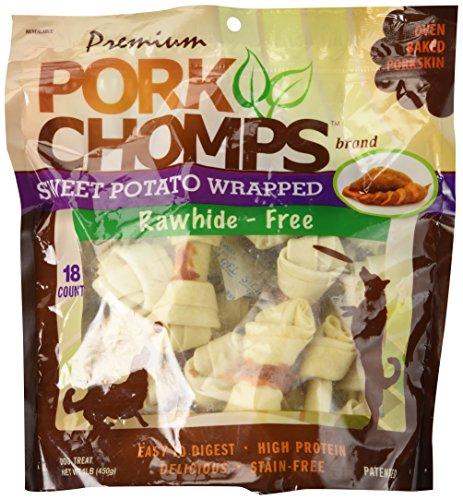 Pork Chomps Scott Pet Products 18 Count Sweet Potato Knotz Treat, Small