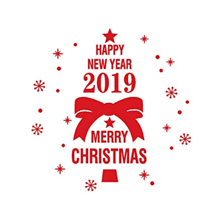 Merry Christmas 2019 Images.Amazon Com Ink2055 Merry Christmas 2019 Happy Year Wall
