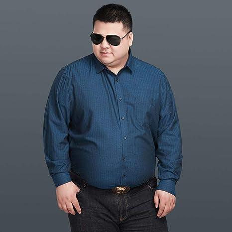 WYTX Camisas Camisa Gruesa De Otoño E Invierno De Manga Larga para Hombres, Además De Rayas Gruesas Sueltas XL Camisa Informal De Negocios Camisa De Gordo Gordo: Amazon.es: Deportes y aire libre