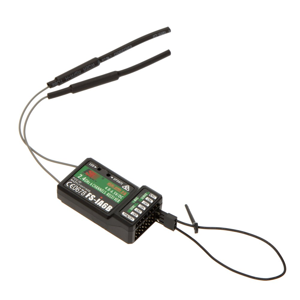 jrelecs 2.4G Flysky FS-iA6B 6 Ch Receiver PPM Output with iBus Port Compatible Flysky i4 i6 i10 Transmitter by jrelecs