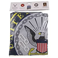 Hickoryville US Navy Flag Double Sided Nylon Embroidered 3x5 Bundled with Flag Clips
