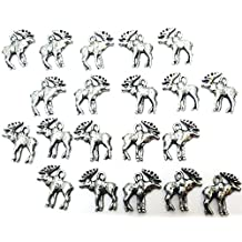 Set of Twenty (20) Pewter Moose Charms
