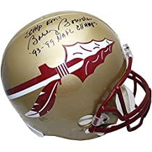 Bobby Bowden Autographed/Signed Florida State Seminoles Gold Replica Helmet with 93