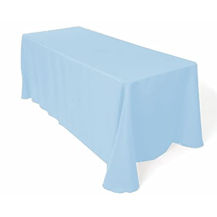 Gee Di Moda Rectangle Tablecloth   90 X 132u0026quot; Inch   Baby Blue  Rectangular Table
